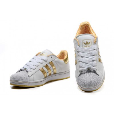 adidas chaussures superstar ii or blanc