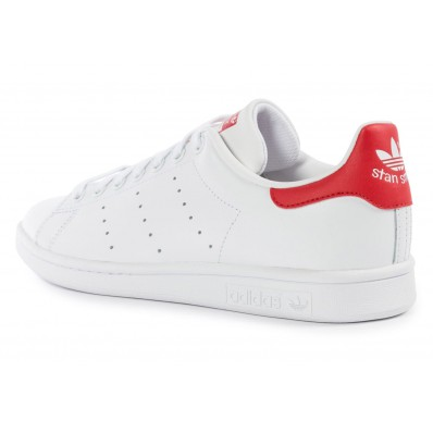 adidas stan smith blanche rouge