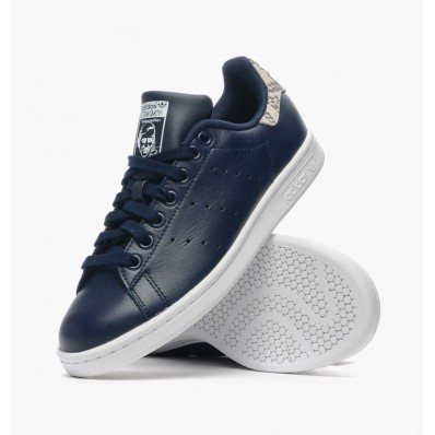 adidas stan smith cuir bleu