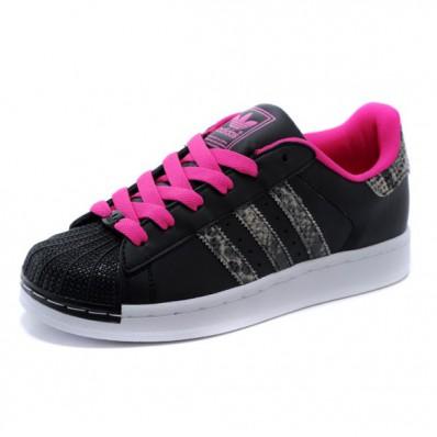 adidas superstar noir et rose