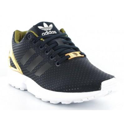 adidas zx flux homme noir et or