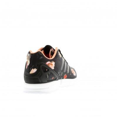 adidas zx flux noir avec des fleurs