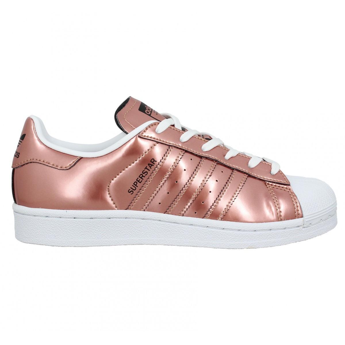 superstar femme adidas rose gold