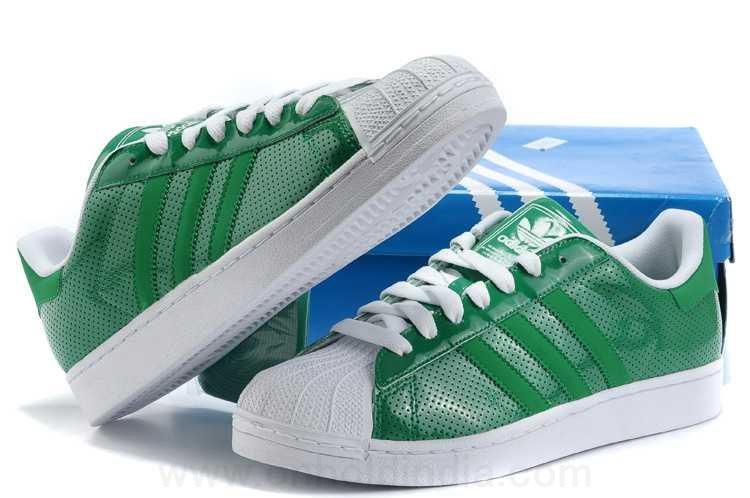 adidas superstar blanche verte
