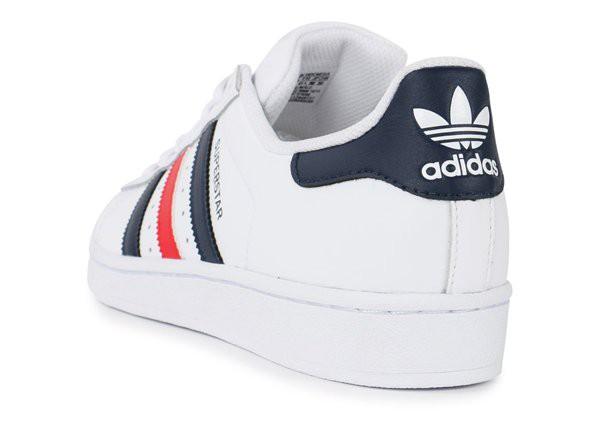 adidas superstar hommes bleu rouge