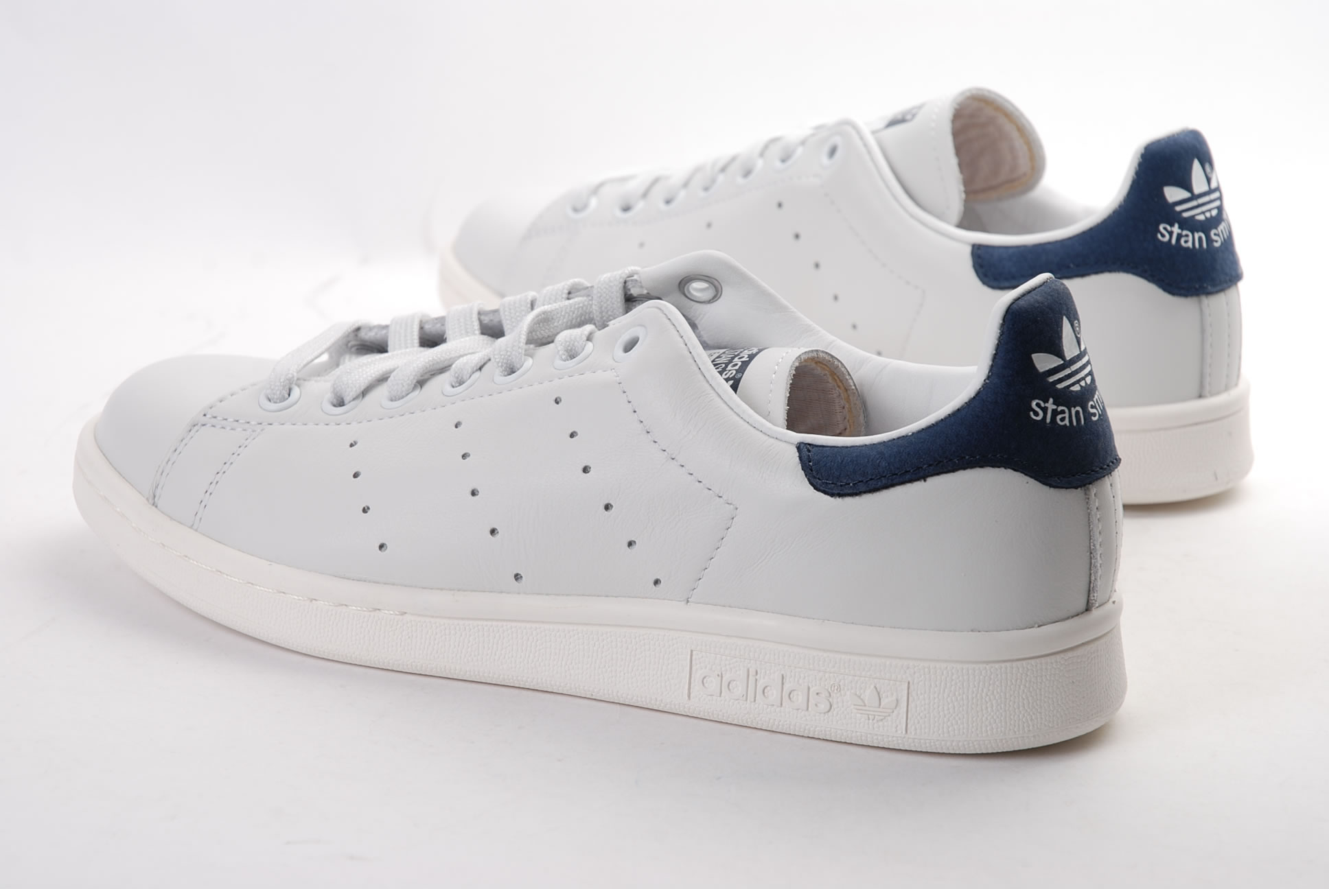 stan smith blanc bleu or