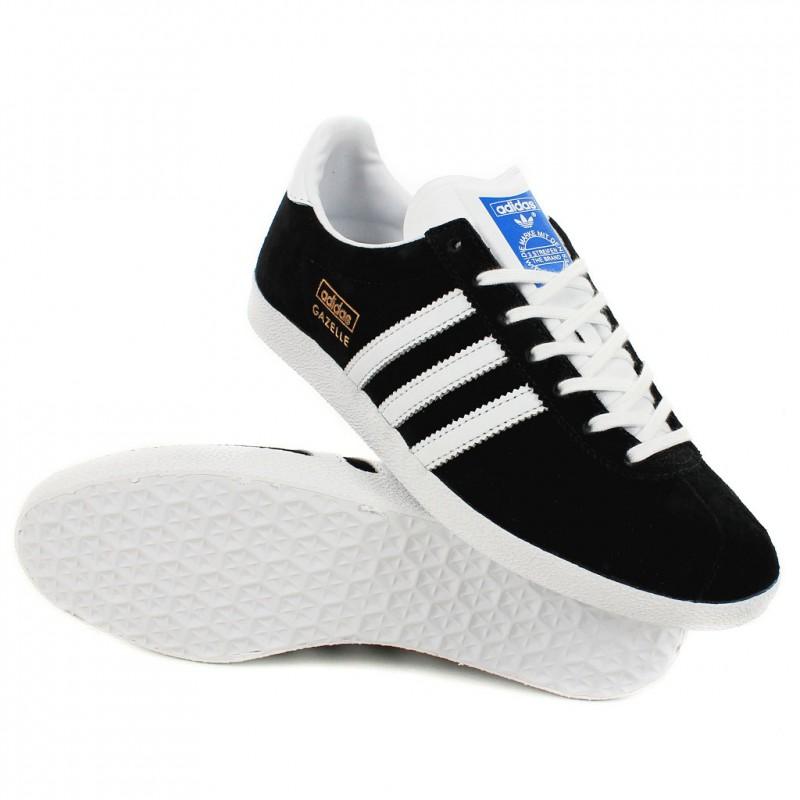 nouveaux styles 7b116 1e3d5 Noir Basket Et Femme Blanche Gazelle Adidas rdsthQ